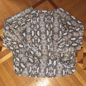 ODDY Snake skin print knot top Large